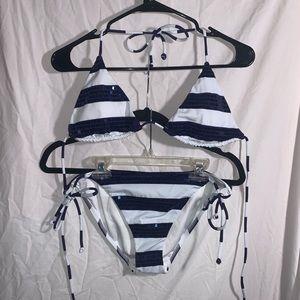 Victoria Secret Large Striped Bikini